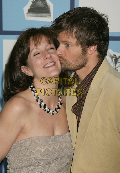 STEVE ZAHN & GUEST.23rd Film Independent Spirit Awards held at the Santa Monica Beach, Santa Monica, California, USA,.23 February 2008..portrait headshot kissing.CAP/ADM/RE.?Russ Elliot/Admedia/Capital Pictures