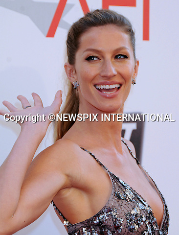 """GISELE BUNDCHEN.attends TV Land Presents: The AFI Life Achievement Awards Honoring Morgan Freeman at Sony Pictures Studios, Culver City, California_9 June 2011.Mandatory Photo Credit: ©Crosby/Newspix International. .**ALL FEES PAYABLE TO: """"NEWSPIX INTERNATIONAL""""**..PHOTO CREDIT MANDATORY!!: NEWSPIX INTERNATIONAL(Failure to credit will incur a surcharge of 100% of reproduction fees)..IMMEDIATE CONFIRMATION OF USAGE REQUIRED:.Newspix International, 31 Chinnery Hill, Bishop's Stortford, ENGLAND CM23 3PS.Tel:+441279 324672  ; Fax: +441279656877.Mobile:  0777568 1153.e-mail: info@newspixinternational.co.uk"""
