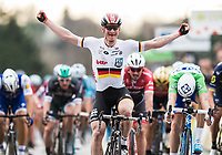 Picture by Alex Broadway/SWpix.com - 09/03/17 - Cycling - 2017 Paris Nice - Stage Five - Quincié-en-Beaujolais to Bourg-de-Péage - Andre Greipel of Lotto-Soudal celebrates winning Stage Five.