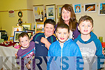 Ballylongford Food & Craft Fair: Attending the Ballylongford Food & Craft Fair at Ballylongford Community centre on Sunday last were Sean & Niall O'Connor, Liam Connolly, Betty Enright & Adam Finnucane.