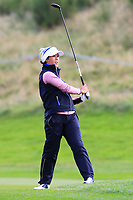 Celine Boutier of Team Europe on the 2nd fairway during Day 2 Foursomes at the Solheim Cup 2019, Gleneagles Golf CLub, Auchterarder, Perthshire, Scotland. 14/09/2019.<br /> Picture Thos Caffrey / Golffile.ie<br /> <br /> All photo usage must carry mandatory copyright credit (© Golffile | Thos Caffrey)