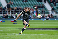 Owen Farrell of England warms up during the Guinness Six Nations match between England and Italy at Twickenham Stadium on March 9th, 2019 in London, United Kingdom. Photo by Liam McAvoy.