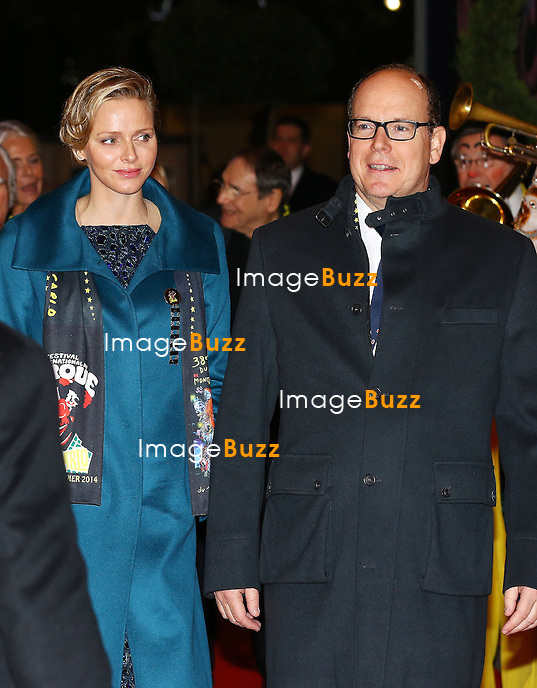 Prince Albert and Princess Charlene of Monaco, H. S. H. Princess Stéphanie of Monaco and her daughter Pauline Ducruet attend the 38th Monte-Carlo International Circus Festival Gala