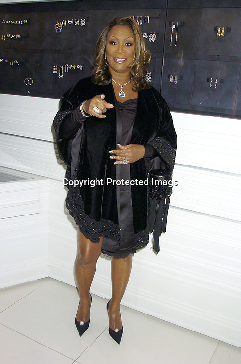 "Patti LaBelle ..at the Patti LaBelle's VIP Cocktail Reception at Jacob the Jeweler's Store on September 19, 2005 in honor of the announcement of her ""Reflections"" All Star Tribute Concert...Photo by Robin Platzer, Twin Images"