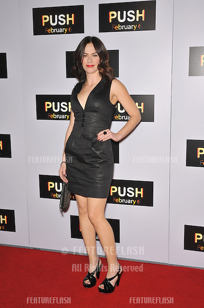 "Maggie Siff at the Los Angeles premiere of her new movie ""Push"" at Mann Village Theatre, Westwood..January 29, 2009  Los Angeles, CA.Picture: Paul Smith / Featureflash"