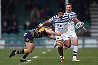 Cooper Vuna of Bath Rugby takes on the Worcester Warriors defence. Gallagher Premiership match, between Worcester Warriors and Bath Rugby on January 5, 2019 at Sixways Stadium in Worcester, England. Photo by: Patrick Khachfe / Onside Images