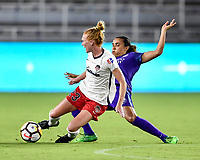 Orlando, FL - Saturday July 07, 2018: Tori Huster, Marta during the second half of a regular season National Women's Soccer League (NWSL) match between the Orlando Pride and the Washington Spirit at Orlando City Stadium. Orlando defeated Washington 2-1.