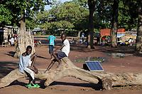 SOUTH SUDAN  Bahr al Ghazal region , Lakes State, village Mapourdit , solar home system / SUED-SUDAN  Bahr el Ghazal region , Lakes State, Dorf Mapourdit, Solaranlage