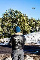 Photography, Photographing, photographer, camera<br /> , Fotografia, Foptografiando, fotografo, camara fotografica,  drone, fly, snow landscapes with clear sky. Winter in Cananea, Sonora, Mexico. Snow on the La Mariquita and Sierra Elenita mountains. 2020. (Photo by: GerardoLopez / NortePhoto.com).....<br /> <br /> paisajes de la nieve con cielo despejado. Invierno en Cananea, Sonora, Mexico.  Nieve en la siera la Mariquita y sierra Elenita . 2020. (Photo by: GerardoLopez/NortePhoto.com )