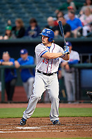 Round Rock Express left fielder Travis Snider (45) at bat during a game against the Memphis Redbirds on April 28, 2017 at AutoZone Park in Memphis, Tennessee.  Memphis defeated Round Rock 9-1.  (Mike Janes/Four Seam Images)