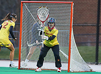 College Park, MD - April 19, 2018: Maryland Terrapins Megan Taylor (34) in action during game between Penn St. and Maryland at  Field Hockey and Lacrosse Complex in College Park, MD.  (Photo by Elliott Brown/Media Images International)
