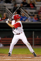 Auburn Doubledays outfielder Billy Burns #31 during game two of the semi-final round of the NY-Penn League Playoff series against the Vermont Lake Monstes at Falcon Park on September 8, 2011 in Auburn, New York.  Auburn defeated Vermont 3-2.  (Mike Janes/Four Seam Images)