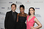 Charlie White - Meryl Davis - Tamron Hall at The 11th Annual Skating with the Stars Gala - a benefit gala for Figure Skating in Harlem - honoring Meryl Davis & Charlie White (Olympic Ice Dance Champions and Meryl winner on Dancing with the Stars) and presented award by Tamron Hall on April 11, 2016 on Park Avenue in New York City, New York with many Olympic Skaters and Celebrities. (Photo by Sue Coflin/Max Photos)