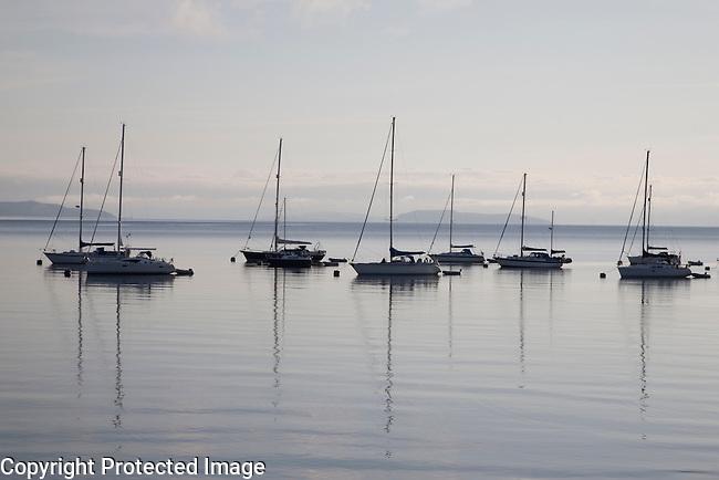 Boats in Broddick in the Isle of Arran, Scotland