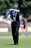 Kent media man Tom Brown keeping busy during the Royal London One Day Cup game between Kent and Gloucestershire at the County Ground, Beckenham, on June 3, 2018
