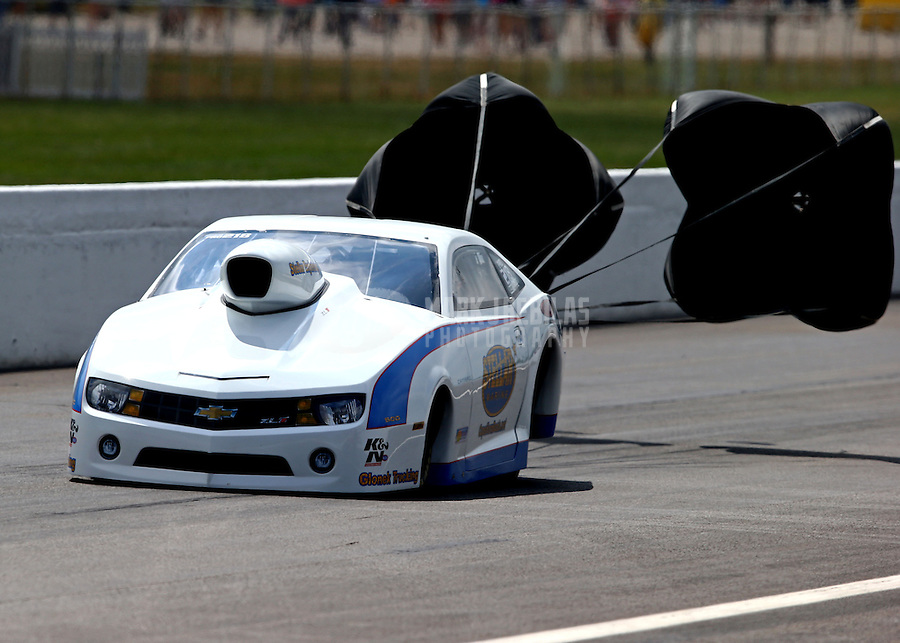 Sept. 2, 2013; Clermont, IN, USA: NHRA pro stock driver Curt Steinbach during the US Nationals at Lucas Oil Raceway. Mandatory Credit: Mark J. Rebilas-