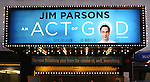 Theatre Marquee for the Broadway Opening Night of 'An Act of God'  at Studio 54 on May 28, 2015 in New York City.