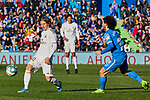 Luka Modric of Real Madrid and Marc Cucurella of Getafe FC during La Liga match between Getafe CF and Real Madrid at Coliseum Alfonso Perez in Getafe, Spain. January 04, 2020. (ALTERPHOTOS/A. Perez Meca)
