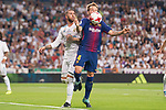 Real Madrid's Sergio Ramos and FC Barcelona's Ivan Rakitic during Supercup of Spain 2nd match at Santiago Bernabeu Stadium in Madrid, Spain August 16, 2017. (ALTERPHOTOS/Borja B.Hojas)