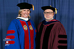 HDR/VIP Portraits - 2017 Commencement - College of Communication and College of Computing and Digital Media: Marty Wilke, broadcast television executive and DePaul alumna and David Miller, dean of the College of Computing and Digital Media. (DePaul University/Jamie Moncrief)