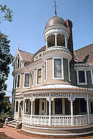 San Diego: Long Residence, 1889. Balcony, cupola.  (Photo '80)