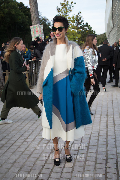Farida Khelfa attend Louis Vuitton Show Front Row - Paris Fashion Week  2016.<br /> October 7, 2015 Paris, France<br /> Picture: Kristina Afanasyeva / Featureflash