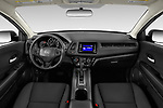 Stock photo of straight dashboard view of a 2019 Honda HR-V LX 5 Door SUV