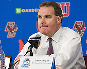 Jim Madigan (Northeastern - Head Coach) - The Boston College Eagles defeated the Northeastern University Huskies 7-1 in the opening round of the 2012 Beanpot on Monday, February 6, 2012, at TD Garden in Boston, Massachusetts.