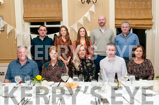 40th Birthday: Caterina Sheehan, Moyvane & Broadford celebrating her 40th birthday with family & friends at the Listowel Arms Hotel on Saturday night last. Front: William Hennessy, Noreen McEvoy, Caterina & Kieran Sheehan & Sinead Kearney. Back : Michael Flaherty, Anna Marie Flaherty, Denise McEvoy, J P Carroll & Myles Kearney.