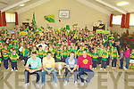 ROAR: Great roars from pupils from Gaelscolil Mhic Eashman as Tommy and Barry John Walh, Micheal Griffin and David Moran arrived with the Sam Maguire Cup at tyheir school on Friday..