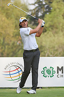Gavin Kyle Green (MYS) watches his tee shot on 18 during round 2 of the World Golf Championships, Mexico, Club De Golf Chapultepec, Mexico City, Mexico. 3/2/2018.<br /> Picture: Golffile | Ken Murray<br /> <br /> <br /> All photo usage must carry mandatory copyright credit (&copy; Golffile | Ken Murray)