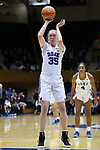 DURHAM, NC - DECEMBER 29: Duke's Erin Mathias. The Duke University Blue Devils hosted the Liberty University Flames on December 29, 2017 at Cameron Indoor Stadium in Durham, NC in a Division I women's college basketball game. Duke won the game 68-51.