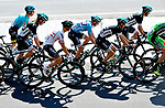 The peloton including race leader Sam Bennett (IRL) and his Bora-Hansgrohe team in action during Stage 3 of the Presidential Cycling Tour of Turkey 2017 running 128.6km from Fethiye to Marmaris, Turkey. 12/10/2017.<br /> Picture: Brian Hodes/VeloImages | Cyclefile<br /> <br /> <br /> All photos usage must carry mandatory copyright credit (&copy; Cyclefile | Brian Hodes/VeloImages)