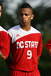 04 September 2009: NC State's Kris Byrd. The North Carolina State University Wolfpack defeated the University of Denver Pioneers 4-0 at Koskinen Stadium in Durham, North Carolina in an NCAA Division I Men's college soccer game.