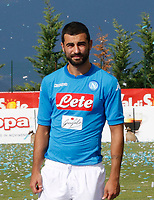 SSC Napoli' players Raul Albiol <br />  wears a new home jersey during a preseason training camp in Dimaro Italy 11 jul 2017 Photo: Ciro De Luca SilverHub  +39 02 43998577 sales@silverhubmedia.it