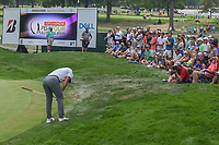Jason Day (AUS) reacts to nearly chipping in on 3 during 4th round of the World Golf Championships - Bridgestone Invitational, at the Firestone Country Club, Akron, Ohio. 8/5/2018.<br /> Picture: Golffile | Ken Murray<br /> <br /> <br /> All photo usage must carry mandatory copyright credit (© Golffile | Ken Murray)