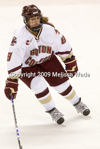 Allison Szlosek (BC - 8) - The University of Minnesota-Duluth Bulldogs defeated the Boston College Eagles 3-0 on Friday, November 27, 2009, at Conte Forum in Chestnut Hill, Massachusetts.