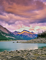 Medicine Lake. Jasper National Park, Canada.