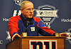 New York Giants Head Coach Tom Coughlin speaks to the media during a news conference at Quest Diagnostics Training Center in East Rutherford, NJ on Monday, Nov. 16, 2015.<br /> <br /> James Escher