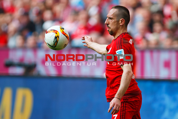 02.04.2016, Allianz Arena, Muenchen, GER, 1.FBL,  FC Bayern Muenchen vs. Eintracht Frankfurt, im Bild Franck Ribery (FCB #7) <br /> <br /> Foto &copy; nordphoto / Straubmeier