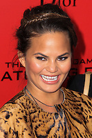 "NEW YORK, NY - NOVEMBER 20: Chrissy Teigen at the New York Premiere Of Lionsgate's ""The Hunger Games: Catching Fire"" held at AMC Lincoln Square Theater on November 20, 2013 in New York City. (Photo by Jeffery Duran/Celebrity Monitor)"