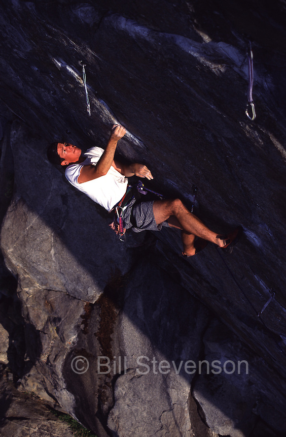A photo of a mountaineer climbing on Donner Summit in California
