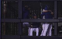Homerun de Jhon Andreoli de Italia en la parte baja de la séptima entrada para tomar ventaja dos carreras por una, durante el partido de desempate Italia vs Venezuela, World Baseball Classic en estadio Charros de Jalisco en Guadalajara, Mexico. Marzo 13, 2017. (Photo: AP/Luis Gutierrez)