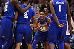 MILWAUKEE, WI - MARCH 18: Middle Tennessee Blue Raiders guard Aldonis Foote (45) celebrates his team during the second half of the 2017 NCAA Men's Basketball Tournament held at BMO Harris Bradley Center on March 18, 2017 in Milwaukee, Wisconsin. (Photo by Jamie Schwaberow/NCAA Photos via Getty Images)