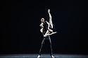 "Svetlana Zakharova, the Bolshoi's Prima and the first and only Russian Etpile at Teatro alla Scala, returns to the London Coliseum, with MODANSE, a new double bill produced by Muzarts. Zakharova is joined on stage by a cast of dancers from the Bolshoi Ballet, including Mikhail Lobukhin, Vaycheslav Lopatin, Denis Savin, Jacopo Tissi and Ana Turazashvili. The piece shown is: 'Come un Respiro"" (Like a Breath), choreographed by Mauro Bigonzetti, in its UK premiere. The dancers are: Svetlana Zakharova, Denis Savin, Jacopo Tissi, Mikhail Lobukhin, Vyacheslav Lopatin, Ana Turazashvili, Anastasia Stashkevich, Victoria Litvinova, Marfa Fyodorova, Tatiana Osipova, Anita Pudikova, Anna Zakaraya, Karim Abdullin, Alexei Gaynutdinov, Anton Gaynutdinov. Picture shows: Svetlana Zakharova, Denis Savin."