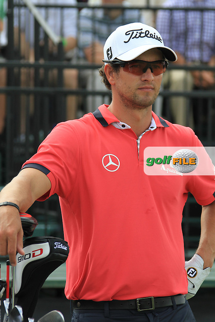 Adam Scott (AUS) on the 10th tee to start his match during Thursday's Round 1 of the WGC Cadillac Championship at TPC Blue Monster, Doral Golf Resort & Spa, Miami Florida, 7th March 2012 (Photo Eoin Clarke/www.golffile.ie)