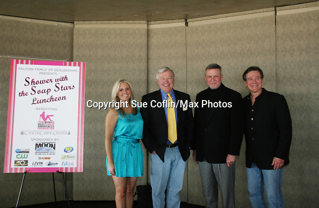 Terri Colombino ATWT - GL's Jerry verDorn - Frank Dicopoulos - Ron Raines attend the Shower with the Stars which benefits the Young Women's Breast Cancer Foundation and Cancer Caring Center of Pittsburgh on March 26, 2010 at the LeMont Restaurant, Pittsburgh, PA. (Photo by Sue Coflin/Max Photos)