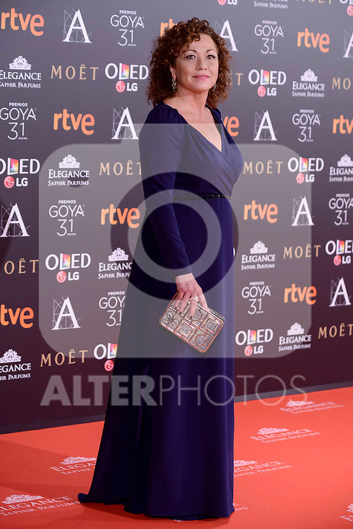 Eulalia Ramon attends to the Red Carpet of the Goya Awards 2017 at Madrid Marriott Auditorium Hotel in Madrid, Spain. February 04, 2017. (ALTERPHOTOS/BorjaB.Hojas)