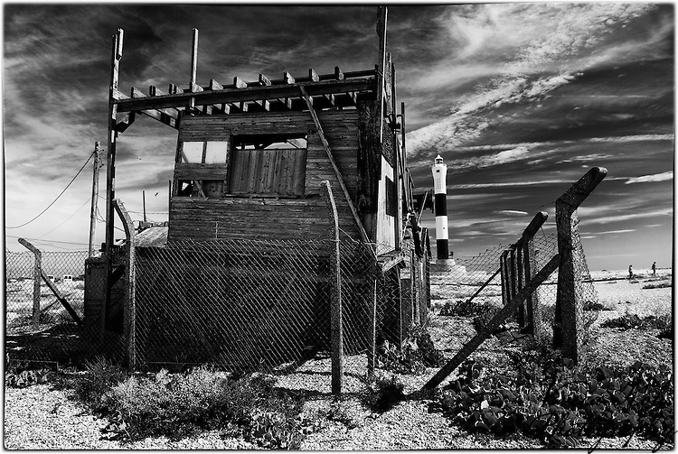 Abandoned Radar Hut on the beach at Dungeness