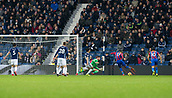 2nd December 2017, The Hawthorns, West Bromwich, England; EPL Premier League football, West Bromwich Albion versus Crystal Palace; Christian Benteke of Crystal Palace takes a shot at the West Bromwich goal but West Bromwich Albion goalkeeper Ben Foster saves the ball
